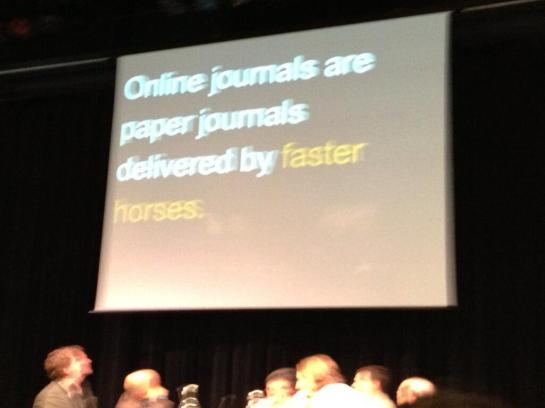 Jason Priem compares online journals to horses
